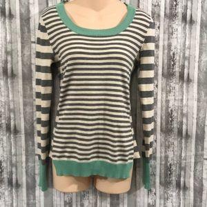 Pink Rose striped knit sweater size Medium